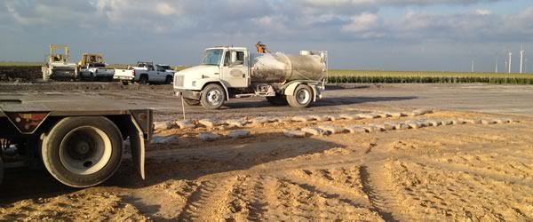 Tanks, ponds, drainage systems and road repairs